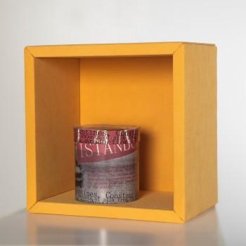 Fabric mensola cubo per arredo a muro in legno e tessuto 30 x 30 cm