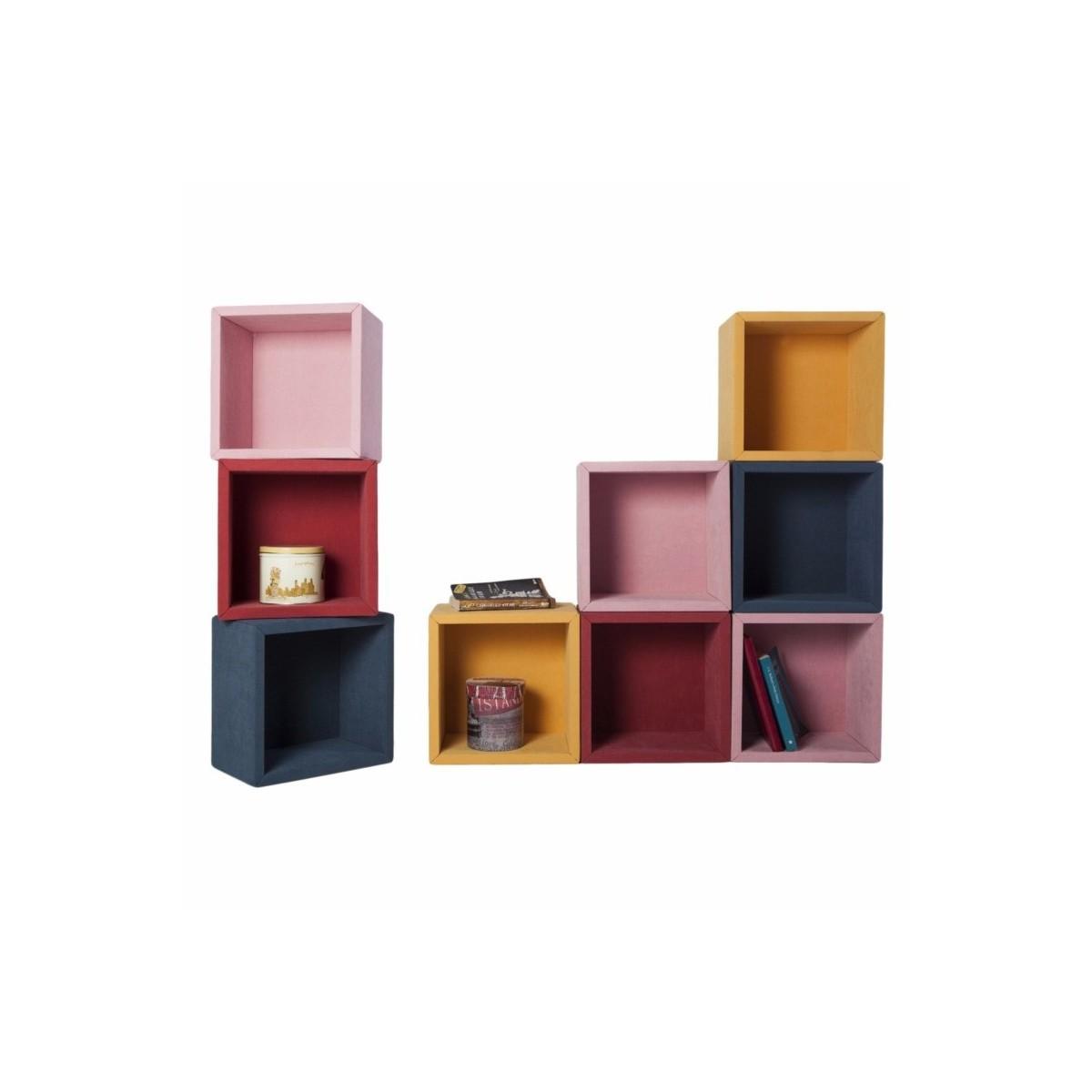 Fabric set di 9 mensole cubi per arredo da parete 30 x 30 cm for Libreria a cubi componibili