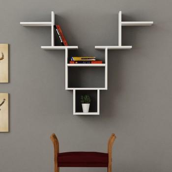 Buck libreria mensola da parete in legno per soggiorno 85 x 98 cm