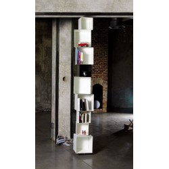 Libreria design Skatola sk33 MotusMentis in acciaio Bianco