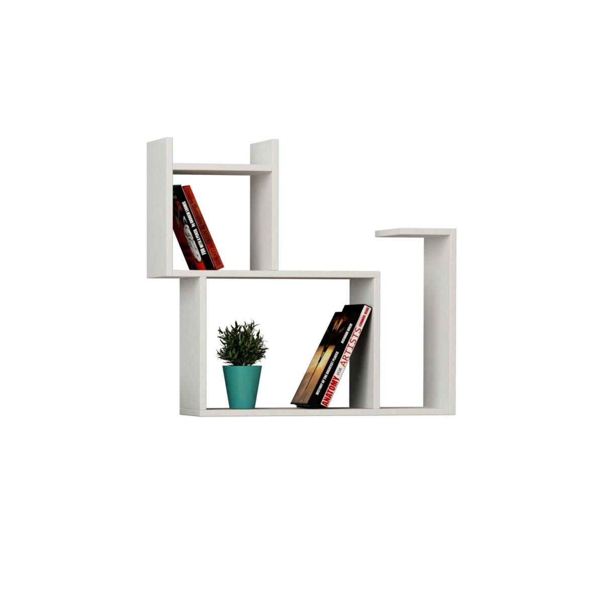 Baffo libreria a muro in legno per soggiorno cameretta 84 x 75 cm