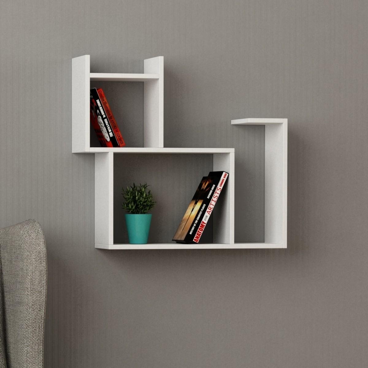 baffo libreria a muro in legno per soggiorno cameretta 84