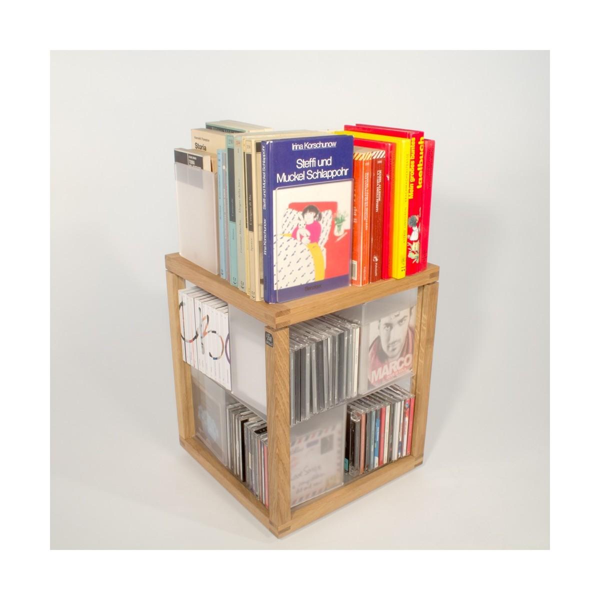 Zia babele trottola porta cd a colonna in legno e acrilico 100 cd - Porta cd design ...