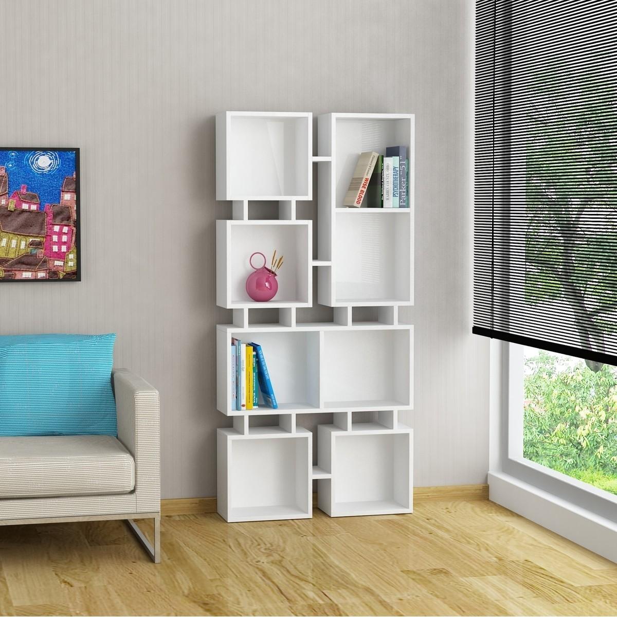 Johnny 2 libreria a muro in legno a cubi per soggiorno camera for Cubi in legno per arredare