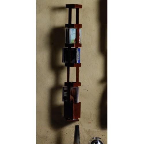 Porta CD da parete in acciaio ruggine Tower A