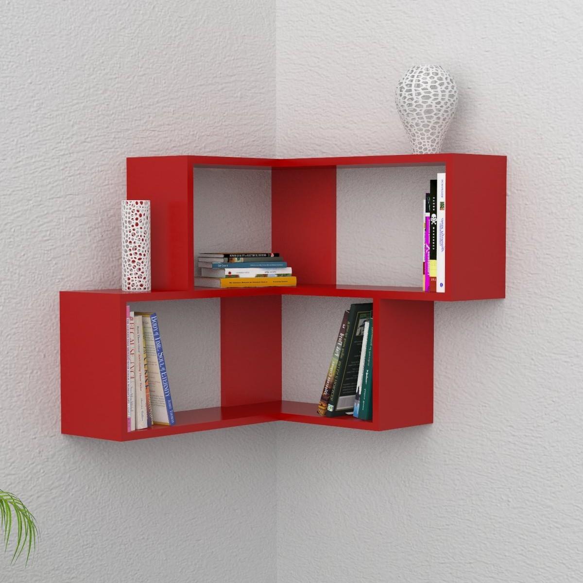 Angular mensola da parete angolare moderna in legno 60x70cm for Librerie angolari ikea