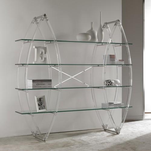 Eternal libreria da terra in metacrilato e vetro trasparente 185x180 cm