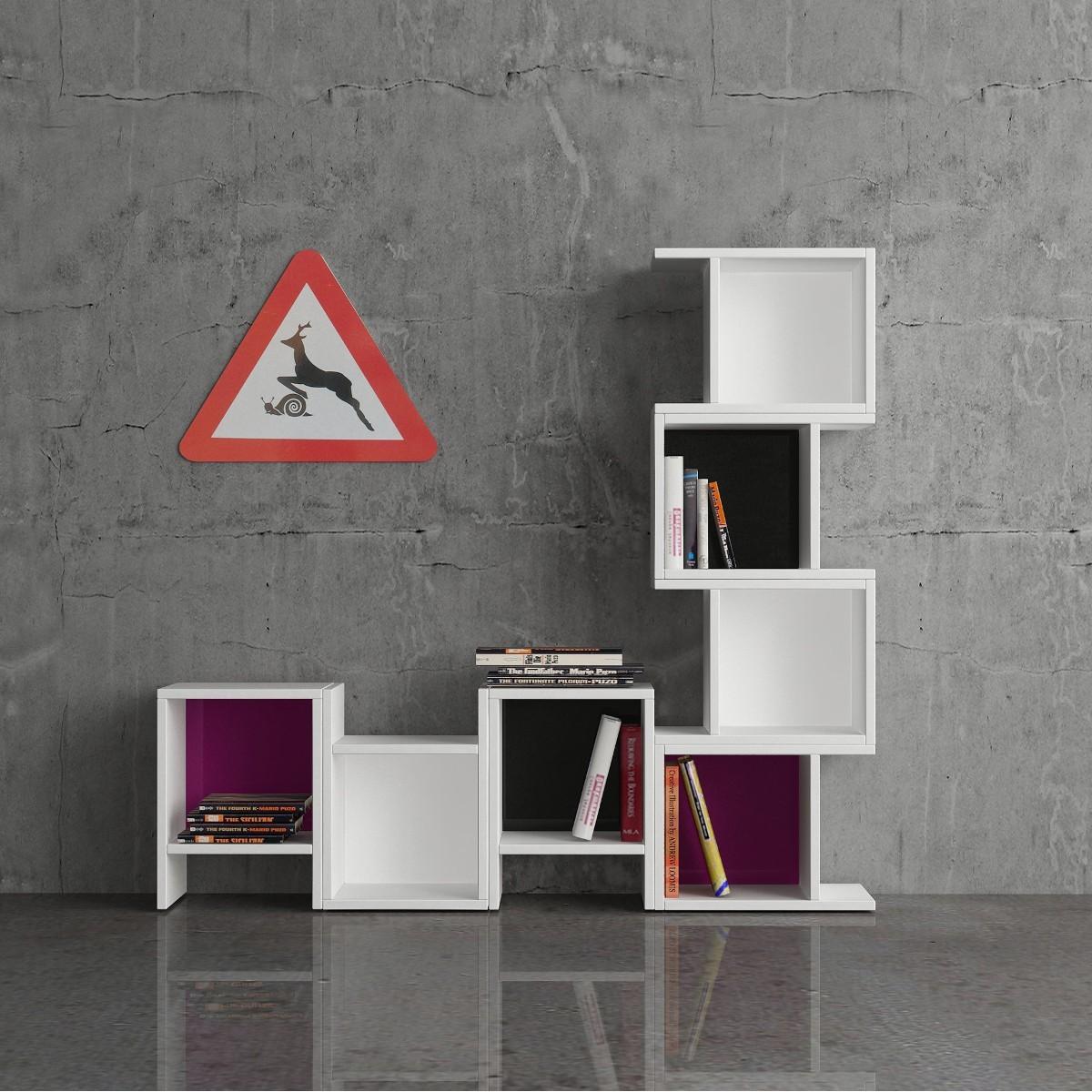 Modularmix libreria componibile a cubi design moderno for Libreria angolare componibile
