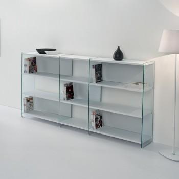 Byblos12 libreria autoportante da soggiorno separa ambienti 240 x 125 cm