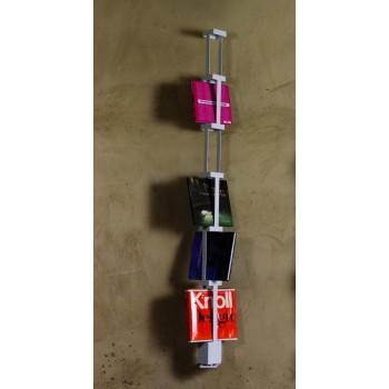 Porta riviste da parete Tower I in acciaio bianco 10 x 195 cm