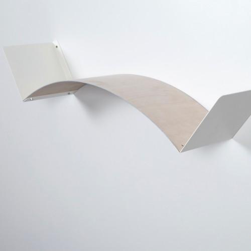 Mensola flessibile componibile da parete in legno L 75 cm Flexa Wood