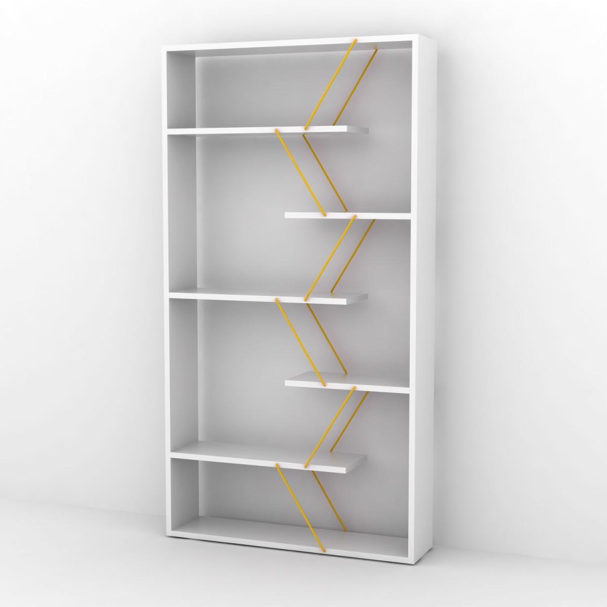 wilmark libreria divisoria autoportante in legno e metallo