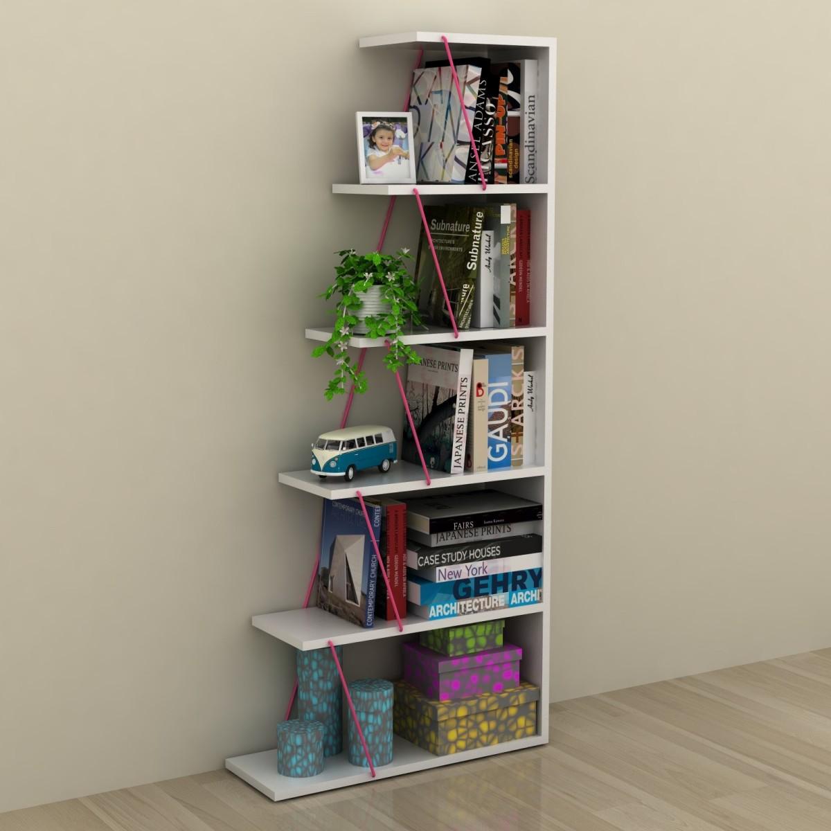 Gradient libreria autoportante per soggiorno in legno e for Scaffale libreria ikea