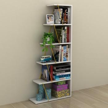 Libreria autoportante per soggiorno in legno e metallo Gradient