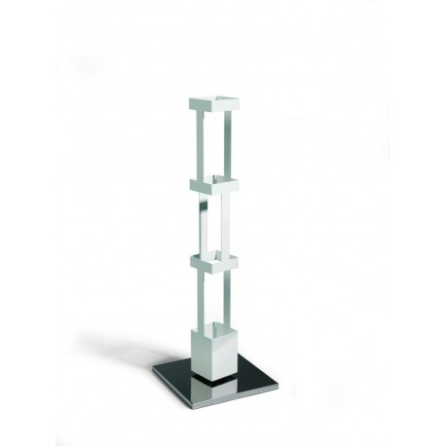 Porta riviste da terra Tower 22G in acciaio bianco altezza 100 cm