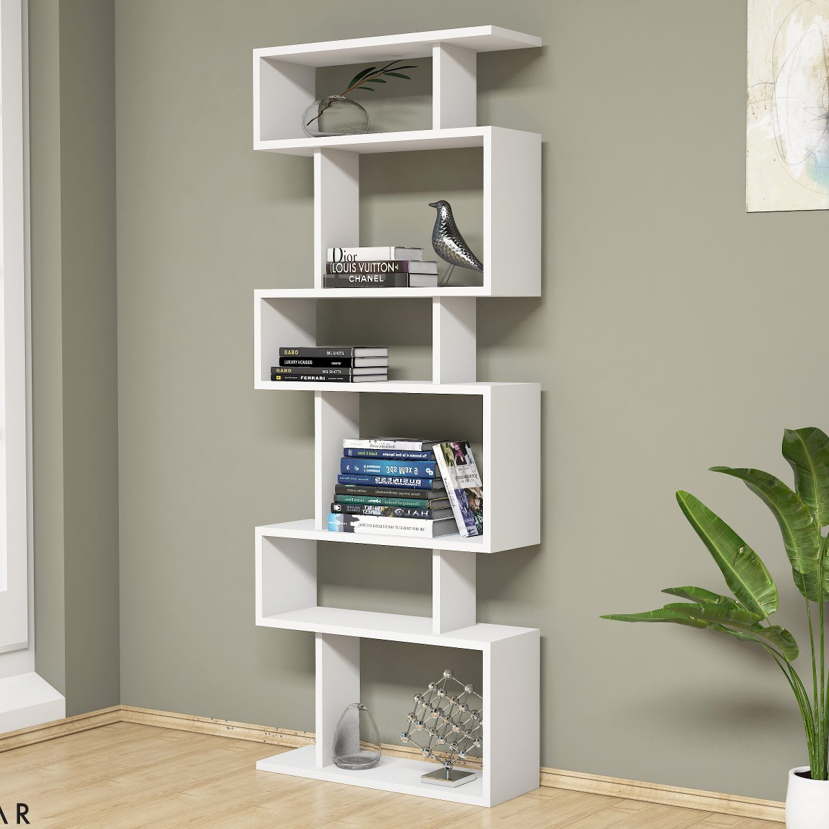Floyd libreria verticale a giorno design moderno 60 x 150 cm for Librerie in legno moderne