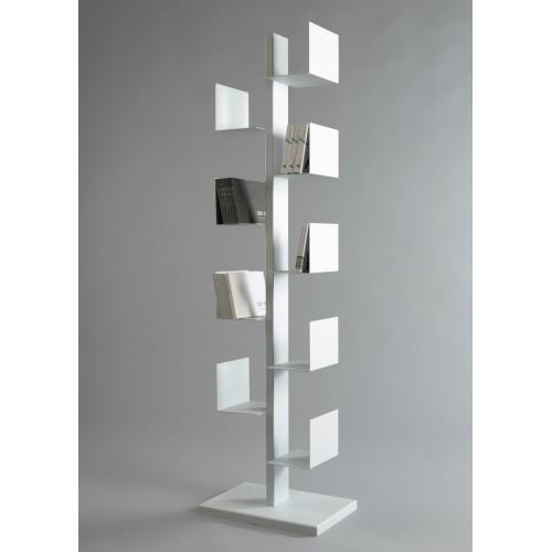 Cactus libreria da terra autoportante in ferro bianca for Libreria in ferro