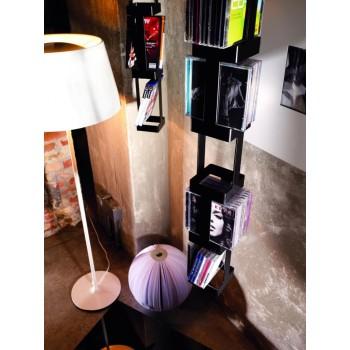 Porta CD sospeso in acciaio x 72 CD Tower 33B