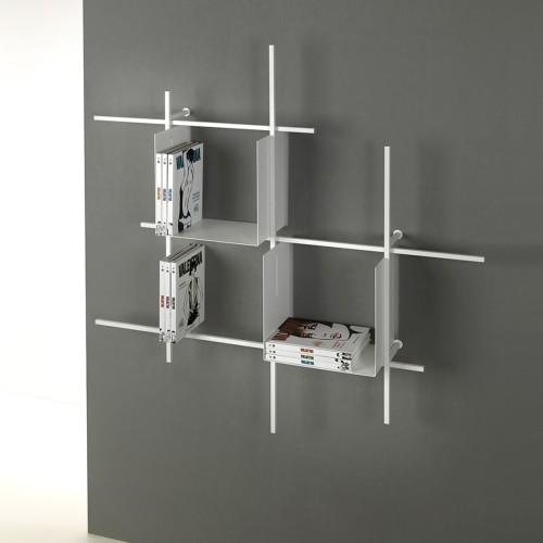 Libreria da parete design moderno in acciaio Libra-comp-1