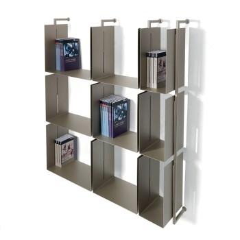 Libreria scaffale a muro in metallo design moderno Libra-comp-12