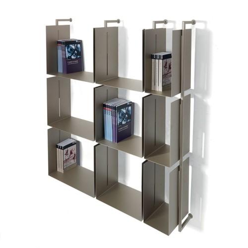 libreria comp-12 verticale a muro design moderno