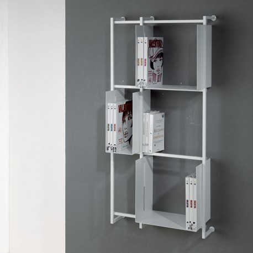 Libreria a muro verticale design moderno Libra comp-14