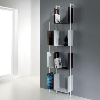 Libreria a muro verticale moderna in acciaio Libra comp-20