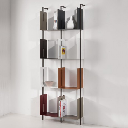 Libreria verticale a parete design moderno Libra comp-21