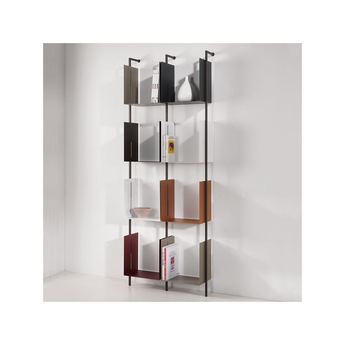 Libreria libra comp 21 verticale a parete design moderno - Libreria parete design ...