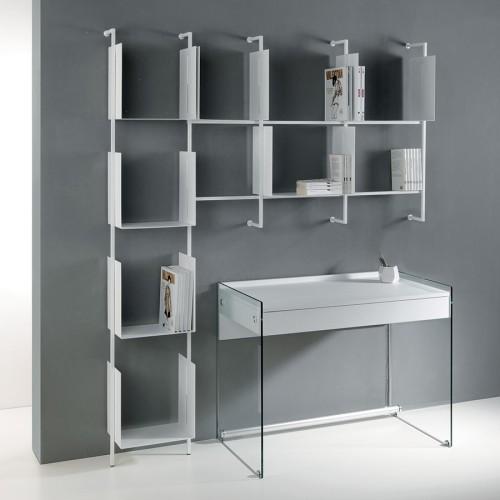 Libreria da muro design moderno in acciaio Libra comp-25