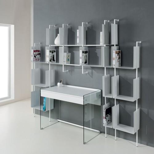 Libreria scaffale da parete in metallo design moderno Libra comp-26