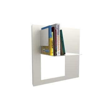 Libreria RiQuadro L a parete in alluminio design moderno