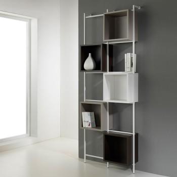 Libreria a muro verticale in metallo con cubi Libra comp-36