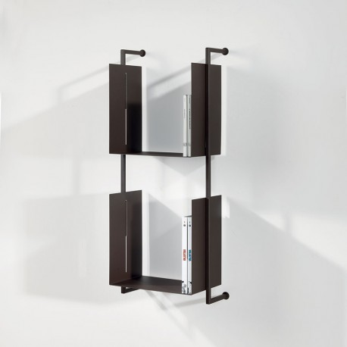 Libreria Libra 94-35-2 da parete sospesa design moderno in acciaio