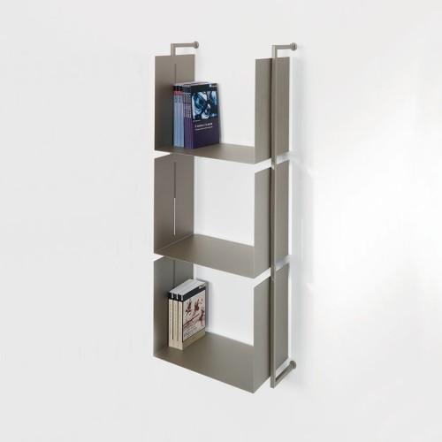 Libreria Libra 119-45-3 da parete verticale in acciaio moderna sospesa