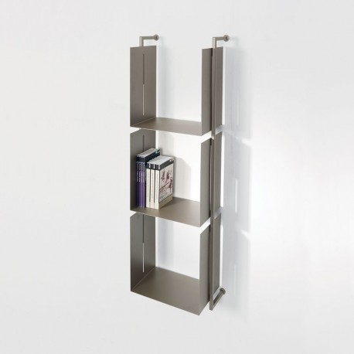 Libreria Libra 119-35-3 a parete verticale in acciaio design moderno