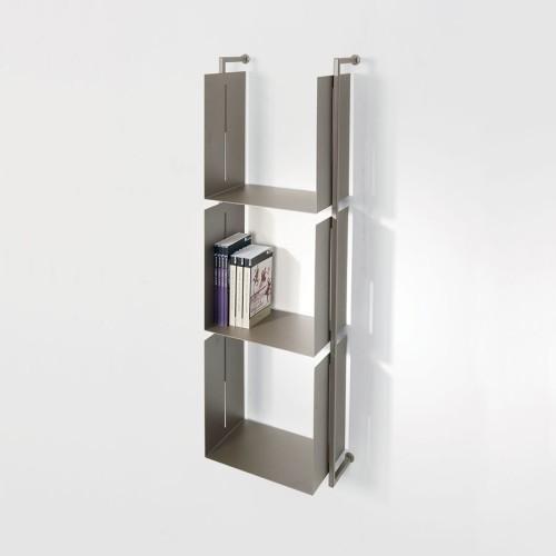 Libreria moderna a parete in metallo design Libra 119-35-3