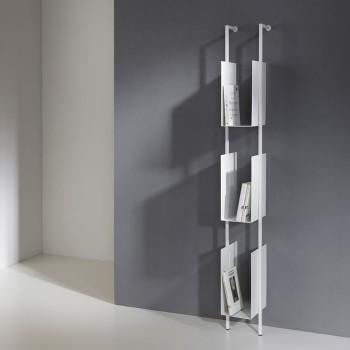 Libreria Libra 163-16-3 verticale a colonna in acciaio design moderno
