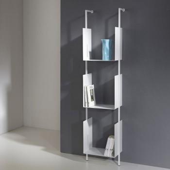 Libreria Libra 163-35-3 a colonna verticale in acciaio design moderno