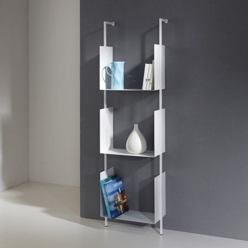 Libreria a muro a colonna verticale in acciaio Libra 163-45-3