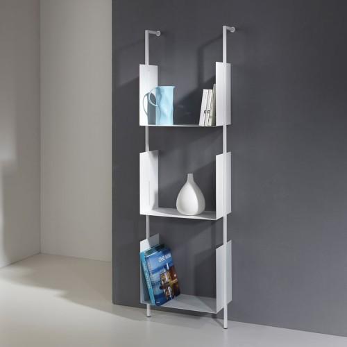 Libreria Libra 163-45-3 a muro a colonna verticale moderna in acciaio