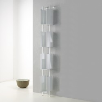 Libreria Libra 200-16-4 a muro verticale a colonna in acciaio moderna