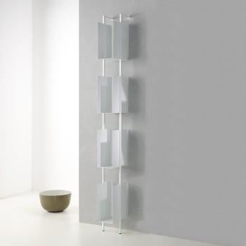 Libreria verticale a colonna moderna in acciaio Libra 200-16-4