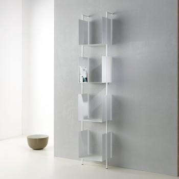 Libreria verticale a muro in acciaio design Libra 200-35-4