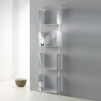 Libreria Libra 200-45-4 design verticale a muro a colonna in accciaio