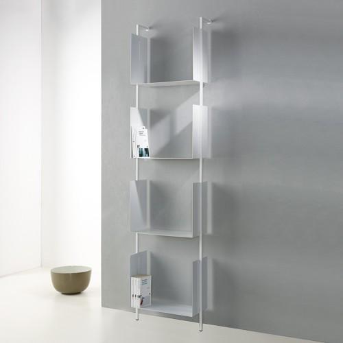 Libreria design verticale a muro in metallo Libra 200-45-4