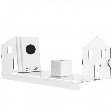Mensola a muro in metacrilato trasparente design moderno Home