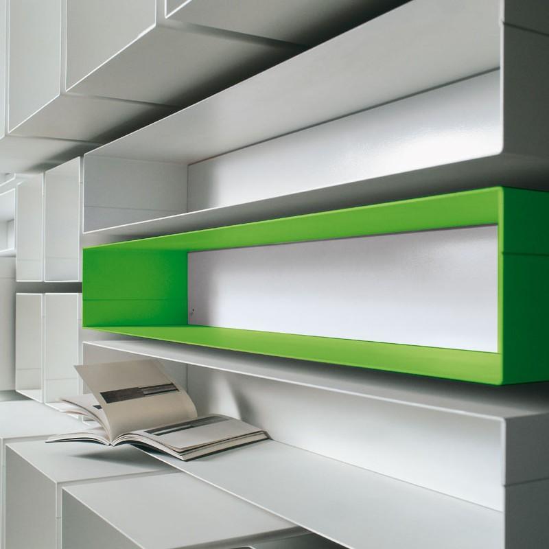 Mensola cubo skatola componibile da parete in acciaio - Mensole da parete design ...