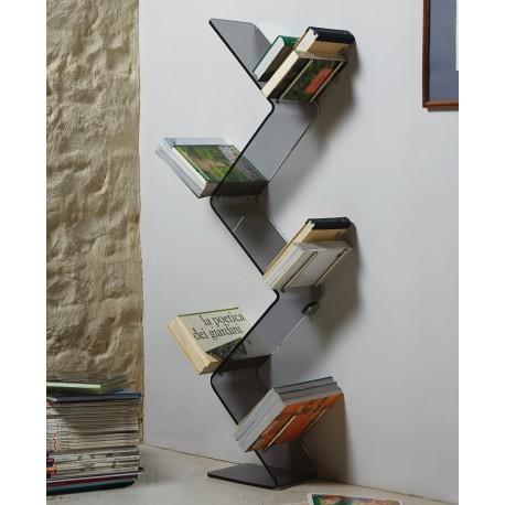 Libreria Urania da terra metacrilato design moderno L45 x P19 x H145