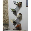 Libreria Urania da terra in metacrilato design moderno L45 x P19 x H145